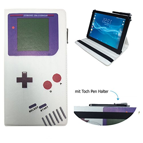 Case Cover für Odys Space 10 Pro plus Tablet Schutzhülle Etui mit Touch Pen & Standfunktion - 10.1 Zoll Game Boy 360°