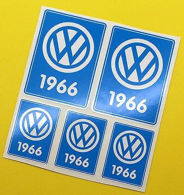VW 1966 VOLKSWAGEN Anni Data adesivi INTERNO VETRO BEETLE SCHERMO DIVISO CAMPER