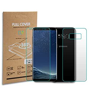 E LV Galaxy S8 Plus screen guard Front + Back EDGE to EDGE screen protector (Not Tempered Glass) For Samsung Galaxy S8 Plus / S8+