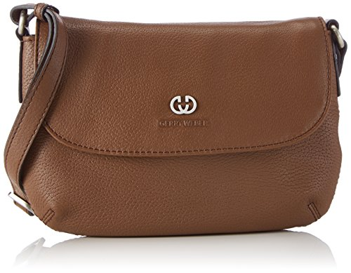 Gerry Weber Napoli II Flap Bag 4080003335 Damen Umhängetaschen 22x15x1 cm (B x H x T), Braun (cognac 703) (Flap Klassische Handtasche Bag)