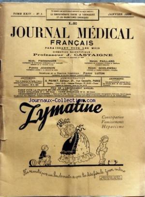 JOURNAL MEDICAL FRANCAIS (LE) [No 1] du 01/01/1935