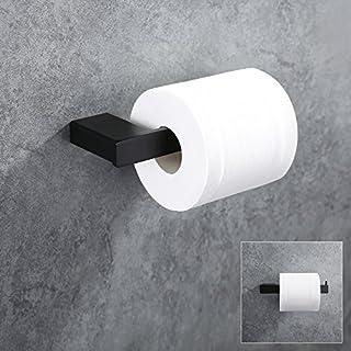 Homelody schwarz Toilettenpapierhalter Wandhalter für Badzimmer WC Papierhalter Hochwertiger Küchenrollenhalter