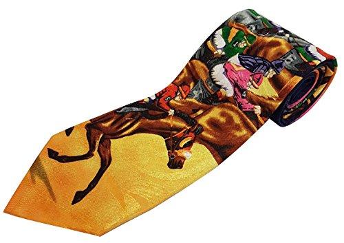The Tie Studio Novedad corbata–Multicolores Caballos Racing diseño