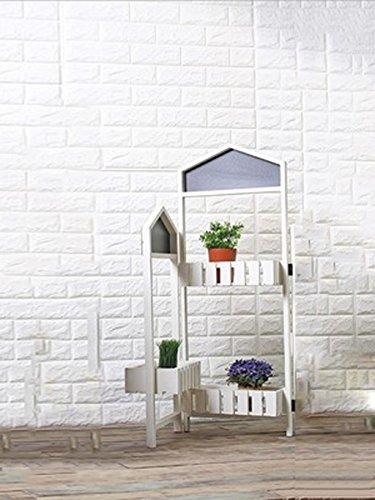 HZA Pergolati in legno, vetrine decorazione pieghevole piante da balcone fiori, ritiro gratuito fiore materiali di alta qualità ( colore : B2 )