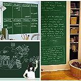 Kreidetafel-Aufkleber für Kreidetafel mit Kreide für Kinder, Büro, Schule, Zuhause, selbstklebend, langlebig, abnehmbar, breit, extra groß, 45,7 x 203,2 cm grün