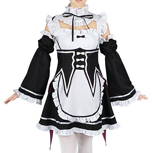 CoolChange Re: Zero kara Hajimeru Isekai Seikatsu Maid Kostüm von Ram & Rem, Größe: M