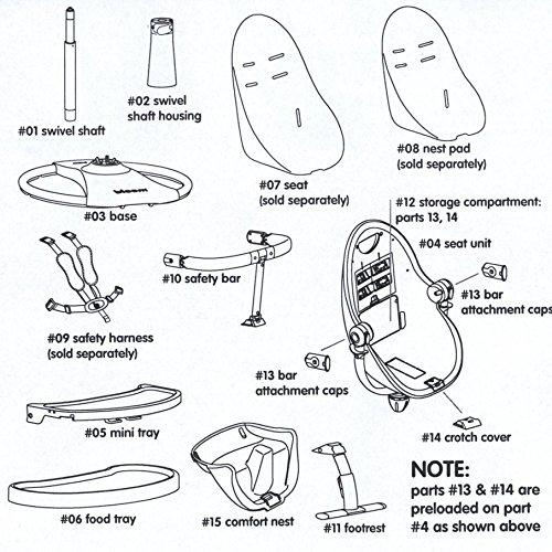Imagen para Para Notebook para trona Bloom Fresco–Correa con hebilla–# 06–Safety Harness–Lunar Silver
