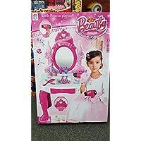 IUEG® Glamour Vanity Girls Magic Mirror Dressing Table Set Induction Makeup Accessories Pretend Princess Toy Music Lights Sound Children Christmas Gift Set + Drawer