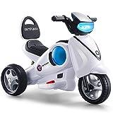 Unbekannt Elektro-Dreirad-Motorrad mit Licht & Soundeffekten / vorwärts & rückwärts