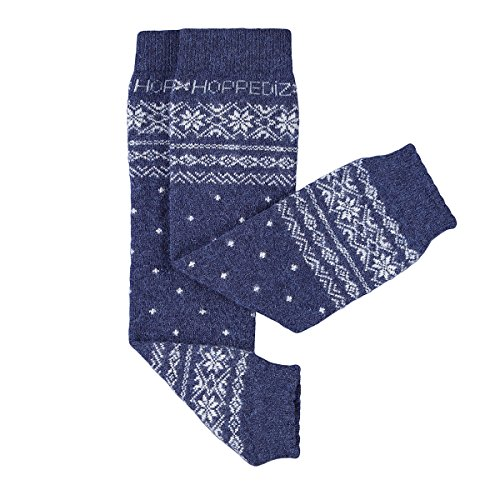 Hoppediz Stn-bla Baby-Stulpen aus Kashmir/Merinowolle, blau
