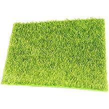 Chytaii Künstliche Rasen Simulation Rasen Kunstrasen Kunstmoos Deko Miniatur Garten Ornament Gras für Garten Balkon Haus Deko 30*30 CM