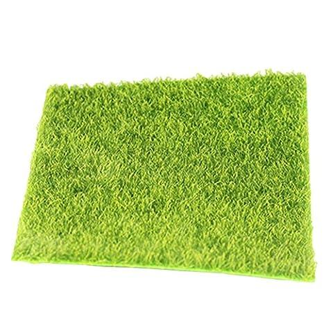 Chytaii Artificial Grass Miniature Garden Fairy Ornament Green Lawn Micro-Mandscape Ornaments
