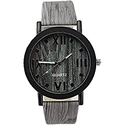 SAMGU Wooden Quartz Men Watches Casual Wooden Color Leather Strap Watch Wood Male Wristwatch Style 6