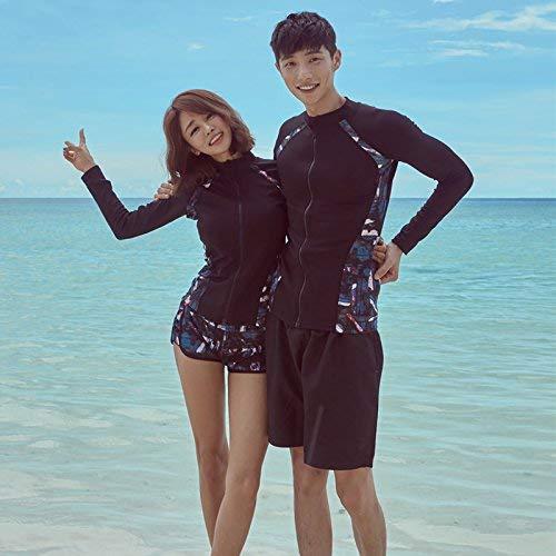 Yingsssq Paare DREI Stück Schwimmen tragen langärmelige konservative Video dünne Sport Sonnencreme Quallen Kostüm, Präsident der dreiteiligen Serie L (Farbe : Wie Gezeigt, Größe : Einheitsgröße)