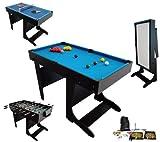 Billard Table Multi Jeux 21 en 1 Noir Pliable - BCE