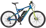 REX E-Bike Alu-Full Suspension MTB 650B 27.5 Zoll GRAVELER 6.9, blau matt, 50, 51666-0111