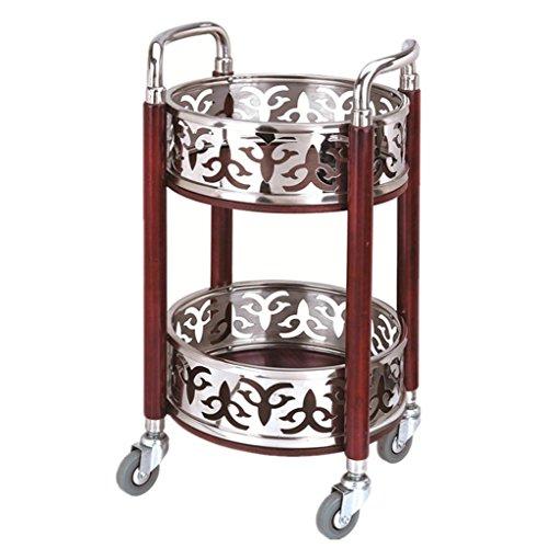RY Werkzeughalter RKY Rack Trolley - Runde Weinwagen Snack Car Mobile Teewagen Hotel Wein Cart Bank Trolley Beauty Tool Warenkorb Multifunktionaler Speicher (Farbe : B, größe : 40 * 40 * 80cm) -