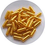 The Alchemists Apothecary Empty Gelatine Capsules Light Gold Pearl Size 0 Pack of 200