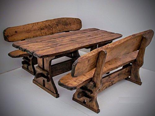 Timberline Sitzgruppe Maxi XL 200 cm Outdoor Gartenmöbel, Farbe:Kastanie;Material:Birke - Rustikale Sitzgruppen