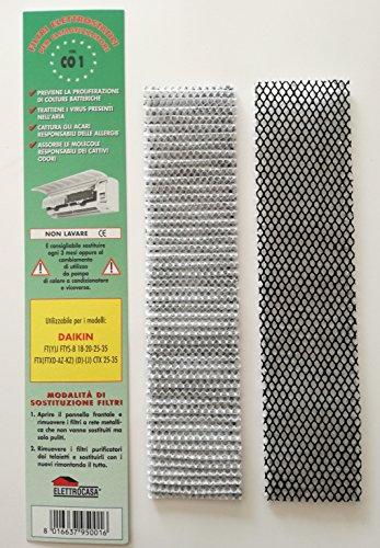 CO12-Stück-Packungelektrostatische Filter für Klimaanlagen Klimaanlage Daikin FT (Y) FTYS-B 18-20-25-35 / FTX (FTXD-AZ-KZ) (D)-(J) CTX 25-35