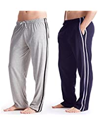 Mens Long Lounge Wear Pants Nightwear (2 Pack) Pyjama Bottoms Sleepwear