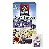Quaker Oats Oat So Simple HEAPS of FRUIT Blueberry & Banana 8 Sachets 278g - Blaubeer & Bananen Flavour