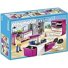 playmobil 5582 jeu de construction cuisine avec ilot