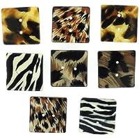 Dress It Up Sew Thru Safari pulsante, Plastica, Multicolore, 20mm, 8