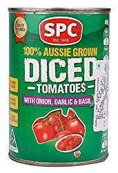 SPC Diced Tom, Onion/Garlic/Basil, 400g