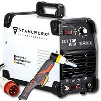 STAHLWERK CUT 70 P IGBT con 70 amperios, encendido por piloto, hasta 25 mm de potencia de corte, adecuada para película oxidada, blanca, 5 años de garantía