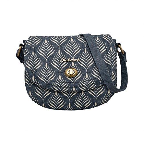- 51BPG9sxZkL - Brakeburn Ladies Teal Feather Design Small Saddle Hand Bag