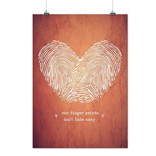 Paar Finger Valentine Mattes/Glänzende Plakat A4 (30cm x 21cm) | Wellcoda