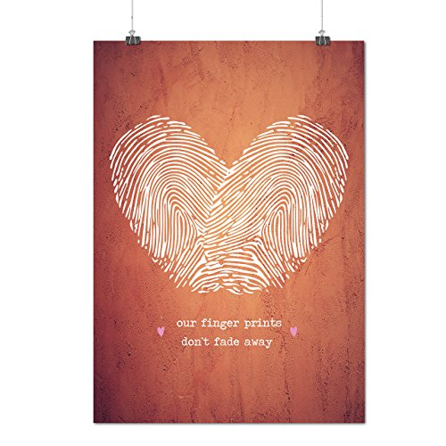 Paar Finger Valentine Mattes/Glänzende Plakat A4 (30cm x 21cm) | (25 Top Kostüme Halloween Mann)