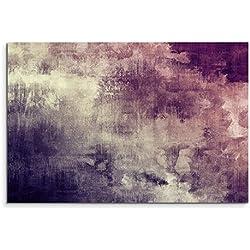 Augenblicke Wandbilder 120x80cm XXL riesige Bilder fertig gerahmt mit Echtholzrahmen in Mauve Abstrakt Acryl mit Pinsel IV