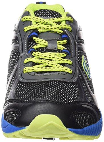 Brütting Limit, Chaussures de course homme Gris (Anthrazit/blau/lemon)