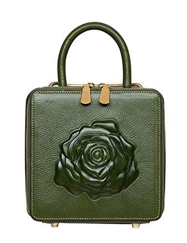 Keshi Leder Cool Damen Handtaschen, Hobo-Bags, Schultertaschen, Beutel, Beuteltaschen, Trend-Bags, Velours, Veloursleder, Wildleder, Tasche Grün