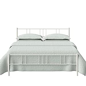The Original Bedstead Company Mortlake Queen Size Metal Bed (Glossy Finish, Ivory)