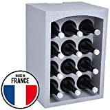 Talous BuonVino Weinregal - Flaschenregal stapelbar aus Styropor für 12 Flaschen - Flaschenkiste isolierend 35x29,5x50 cm