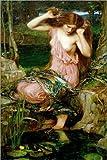 Poster 40 x 60 cm: Lamia by John William Waterhouse/akg-images art print, new art poster