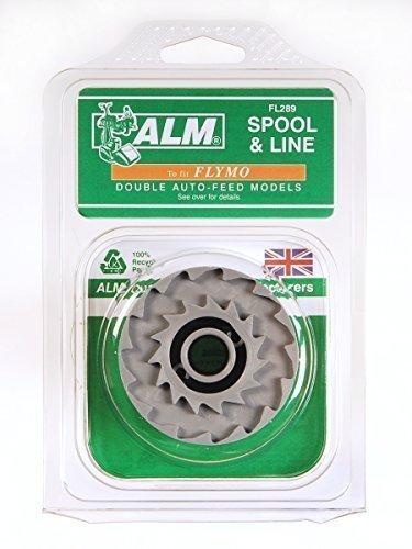 5 x ALM englischsprachiger Aufschrift ALM Spule &Line für Motorsäge Homelite Ryobi MacAllister und Flymo doppelt Auto-feed Modelle siehe Beschreibung für weitere Modelle