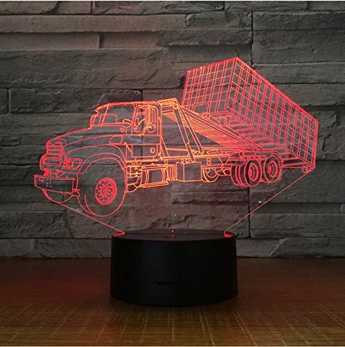 Container Anhänger Lkw 3D Stereo Lampe Schlafzimmer LED Kreative Tischleuchten USB Nachtlicht Kinder Geschenk -