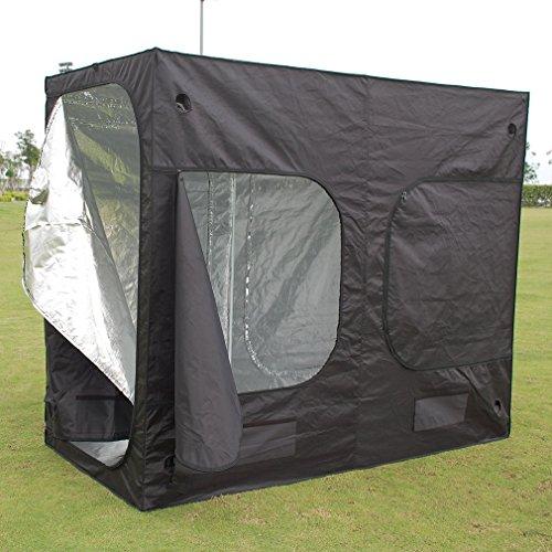 ICOCO 240x 120x 200cm idroponica indoor Grow Tent box argento Mylar foderato Bud pianta Grow...