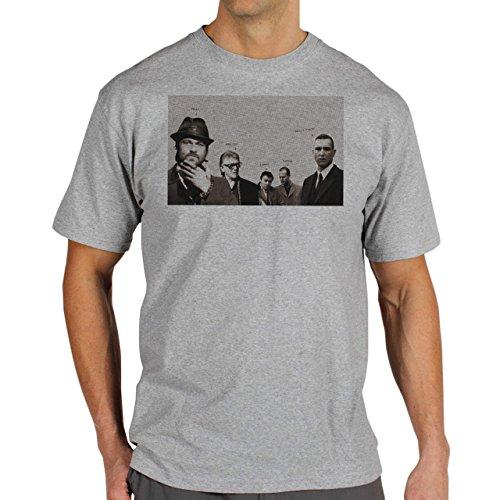 Snatch Movie Brad Pitt Names In Grey Background Herren T-Shirt Grau
