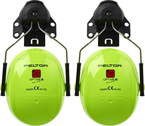 3MTM PELTORTM OptimeTM II   Hi-Viz Cuffie auricolari, 30 dB, con attacco per elmetto, H520P3E-467-GB