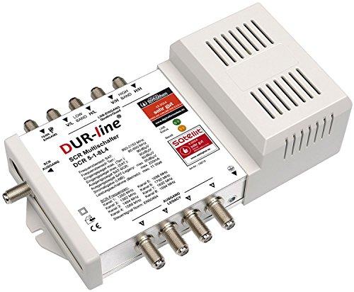 DUR-line DCR 5-1-8-L4 SCR-Schalter - Einkabellösung für 8 SCR-Teilnehmer + 4 Legacy Ausgänge - 2X Test sehr gut
