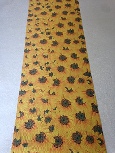 Tappeto cucina 52 x 240 girasole girasoli fiori gialli verde