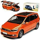 Paudi Volkwagen Touran II Orange Rot 2. Generation Ab 2015 1/18 Modell Auto