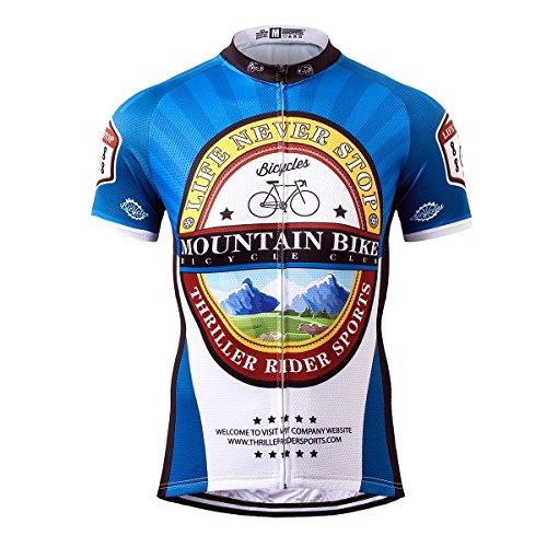 Thriller Rider Sports® Herren Mountain Bike Club Sport & Freizeit MTB Fahrradbekleidung Radtrikot 2X-Large