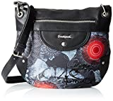 Desigual Bols Same Brooklyn CarbonDati:o Materiale: Outdoor 60% poliestere, 30% cotone, 10% poliuretanio Dimensioni: Larghezza 30 cm, altezza 26 cm, profondità di circa 2 cmo Colore: Carbon (nero)o Fabbricante: Desigual