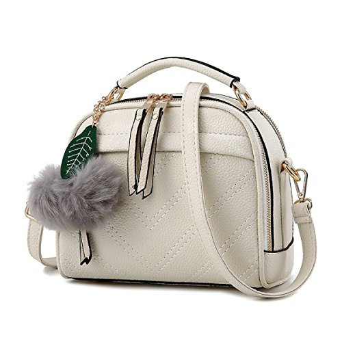 2017 Womens Stylish Hobo Taschen Mit Quasten Umhängetasche Handtasche White